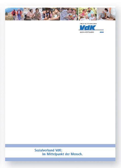 Briefpapier Sozialverband Vdk Baden Württemberg