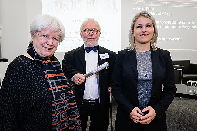 Ulrike Mascher, Volker Langguth-Wasem und Verena Bentele