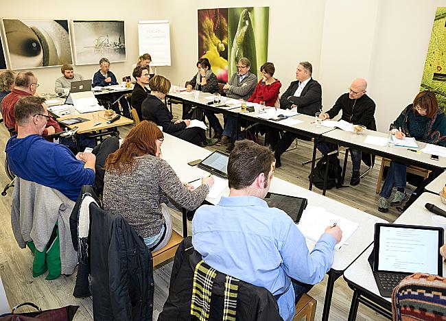 Mitglieder des DBR-Arbeitsausschusses bei einer Sitzung