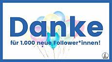 1000 neue Follower des DBR