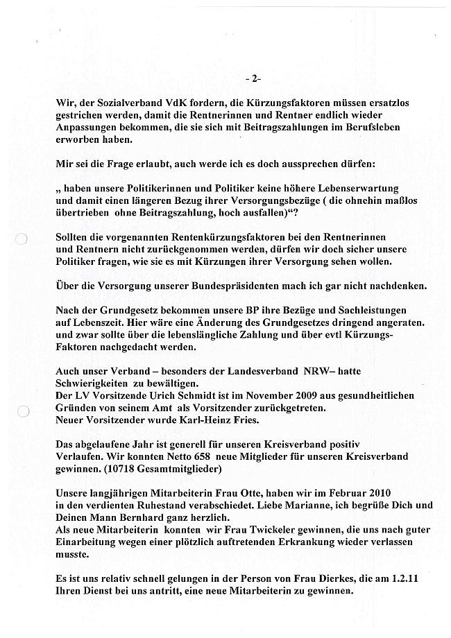 aktivitäten im kreisverband - sozialverband vdk nordrhein-westfalen, Einladung