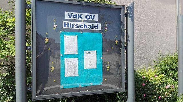 Unser Schaukasten Am Rathaus Hirschaid Sozialverband Vdk Bayern