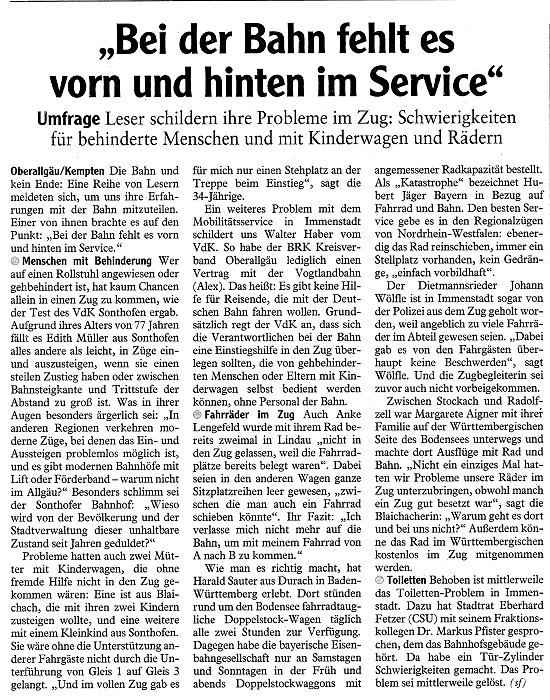 Verschiedene Zeitungsartikel Sozialverband Vdk Bayern