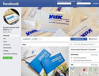 Screenshot der VdK-Facebookseite
