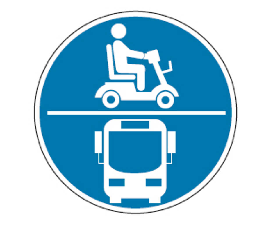 4519dc9406534 E-Scooter- und Bus-Piktogramm