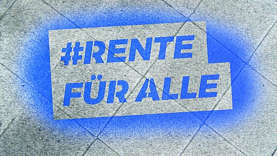Logo der VdK-Kampagne #Rentefüralle auf pinkem Grund.